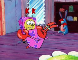 Spongebuddy mania spongebob transcripts bossy boots at the krusty krab we see squidward at the ordering boat and spongebob working in the kitchen mr krabs is talking through a megaphone publicscrutiny Images